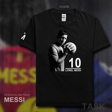 Fashion Barcelona MESSI fitness Short Sleeve cotton T-Shirts Men T Shirt 2017 Summer Streetwear clothing Lionel Leo Footballer
