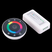 22 modes RGB Controller Wireless Touch screen RGB controller DC12-24A 18A RF remote Controller for 3528 or 5050 RGB LED strips