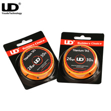 Original Youde UD Titanium TA1 Wire 30FT with 28ga 26ga 10m/roll Heating wire DIY for E Cigarette Mod Vape Tank Atomizer coils