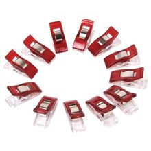 Best 50pcs Red Wonder Clips for Fabric Quilting Craft Sewing Knitting Crochet Office(China)