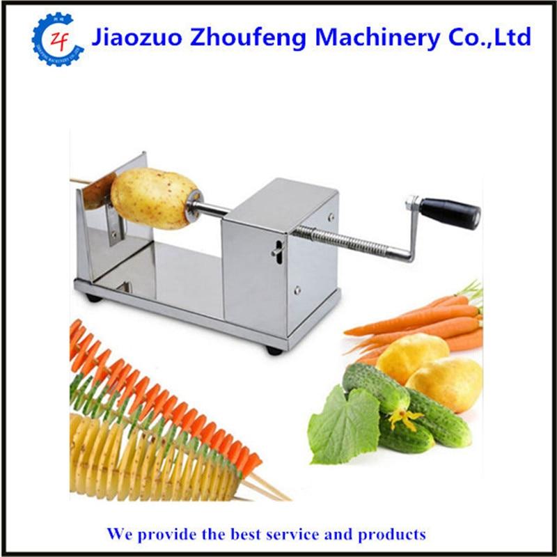 Spiral potato slicer home use manual stainless steel tornado potato cutter potato tower fruit vegetable kitchen tool  ZF<br>