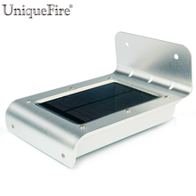 Uniquefire 2nd Generation 16 LED Solar Power PIR Human Body Motion Sensor Home Garden Path Wall lampe Security Waterproof Light(China)