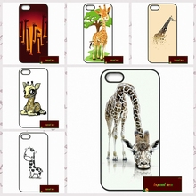 Funny Big head giraffe Phone Cases Cover For iPhone 4 4S 5 5S 5C SE 6 6S 7 Plus 4.7 5.5   UJ0156