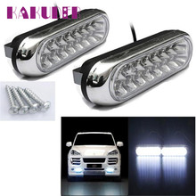 2017 NEW Car light 2x Universal 16 LED Car Van DRL Day Driving Daytime Running Fog White Light Lamp fashion hot sep15