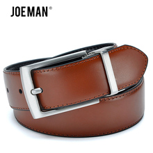Revolvable Buckle Belts For Men Luxury Design Leather Belts High Quality Brown Color And Black Color On the Belt(China)