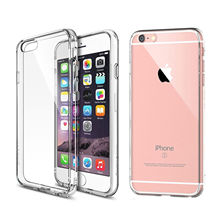 For iPhone 5 5s SE 6 6s 6Plus 6s Plus 7 7Plus Transparent Clear Case Ultra Slim Crystal TPU Silicone Protective sleeve Cover