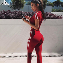 ZAFUL Women Fitness Yoga Set Gym Sports Running Hooded Tracksuit Jogging Dance Sport Suit Workout Clothing T-Shirts Pants Set(China)