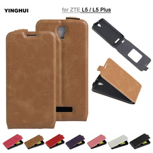 "Fashion PU Leather Back Cover For ZTE Blade L5 Plus Flip Wallet Skin Case For ZTE Blade L5 5"" Phone Cases Protective Accessories"
