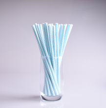 25pcs light blue drinking paper straws for kids birthday party christmas wedding decoration chevron wavy drinking paper straws