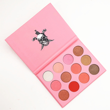 Brand 12 Colors 3D Eyeshadow Pallete Professional Pro Warm Makeup Pallete face Matte Eyeshadow Palette(China)