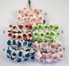 20pcs/lot Paper Flower Bouquet / Scrapbooking artificial rose flowers,Wedding favor D027021005