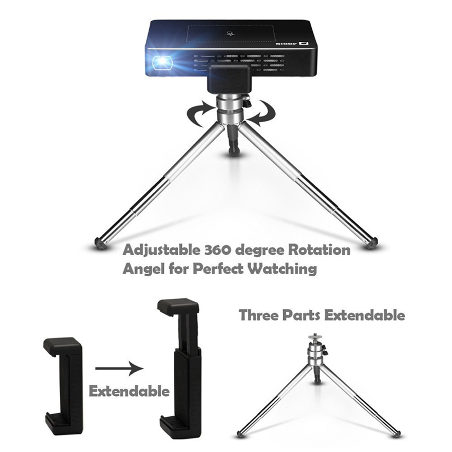 AODIN M9 mini Projector Smart Multi-touch screen1G+32G LED Portable Projectors DLP 300 lumen 5000mAh Battery HD Pocket Projector-26