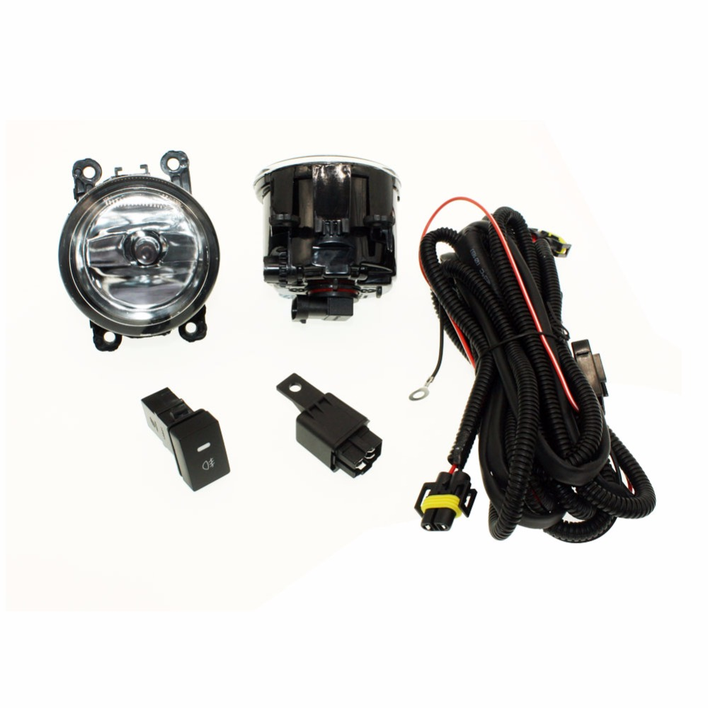 For CITROEN C4 Picasso UD_   H11 Wiring Harness Sockets Wire Connector Switch + 2 Fog Lights DRL Front Bumper Halogen Car Lamp <br>