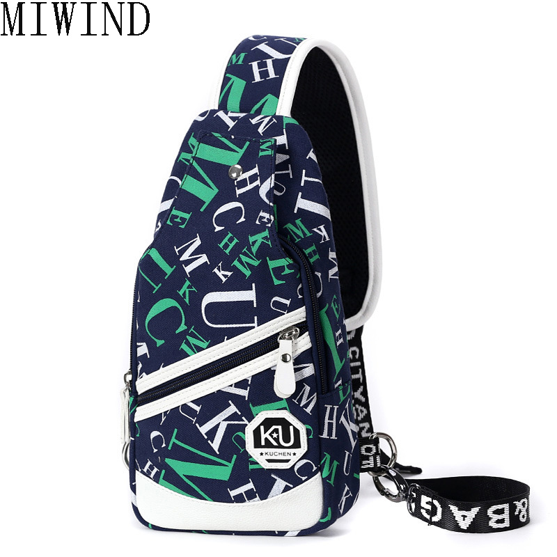 MIWIND2017 New Canvas Chest Bag for Men Crossbody Mens Casual Messenger Bag Sling Male Shoulder Waist Bag Large Capacity TND687<br>