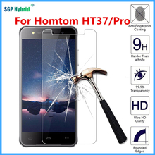 "For Homtom HT37 Pro 5.0inch HD Phone Tempered Glass Screen Protector for doogee homtom ht37 5.0"" 9H Guard Protective Films case"