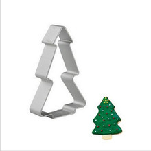 Aluminium Mold Christmas Tree Shaped Buscuit Tools Cookie Cake Mold Jelly Pastry Baking Cutter Mould Tool