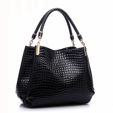 Designer Alligator Bags Women Leather Handbags Spanish Brand Luxury Ladies Hand Bags Fashion Shoulder Bags Black Bolsos Sac 2016