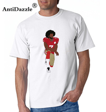 Antidazzle Character Funny Colin Kaepernick Kneeling T-Shirt 2017 Cheapest Men's Design Tees Tops Round Neck Shirts(China)