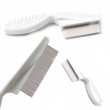 Metal Nit Head Hair Lice Comb Fine Toothed Flea Flee with Handle Comb for Kids Pet Tools