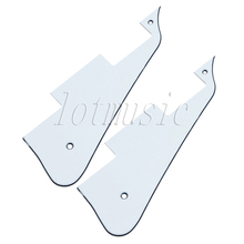 2pcs White PVC Pickguard Guitar Backplate 3ply For Gibson Les Paul  replacement