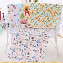 Cartoon Cotton 3 Layers Baby Waterproof Mat Large Baby Changing Mat Cover Infant Urine Pad Kids Mattress Sheet Protector Bedding