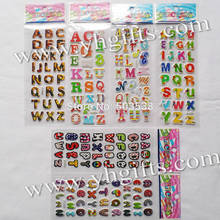 120 Sheets (3540PCS stickers) / LOT.Plastic removable A-Z letter stickers,English learning,Promotional gifts.Teach your own.OEM(China)