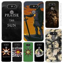 Praise the Sun Dark Souls Clear Cell Phone Case Cover Shell for LG K3 K4 K8 K10 G3 G4 G5 G6 2017 V10 V20 K5 stylus3(China)