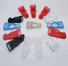 12pcs sock buckles sexy underwear clip garment trimming plastic buckles suspender clip garter belt clip 12mm inner(China)