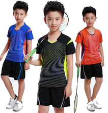 Children school student badminton Jersey clothes,Table tennis sport shirt Polyester Quick Dry Breathable training t-shirs XS-3XL