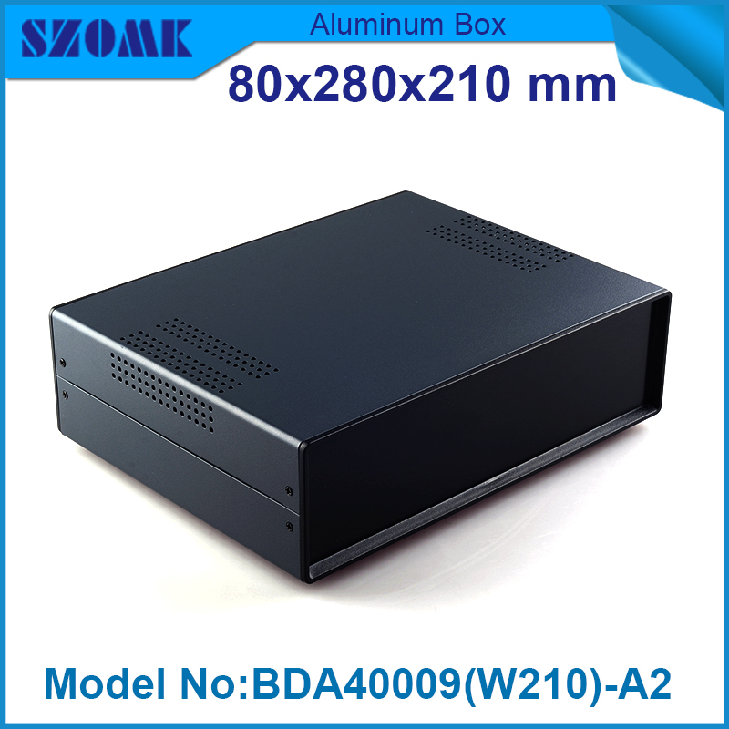 1 piece door vents iron case housing in Black color project box diy case | box | enclosure 80(H)x280(W)x210(L) mm<br>