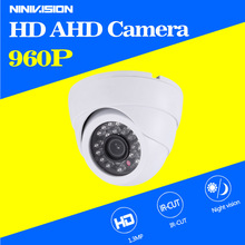 960P AHD Camera Indoor Dome Security CCTV Camera IR Cut Filter 1.3MP AHD Camera High Resolution 24pcs LED cctv camera(China)
