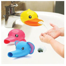 Urijk 1Pc Cute Cartoon Faucet Extender For Kid Children Kid Hand Washing Bathroom Sink Accessories Lovely Elephant Duck Dolphin(China)