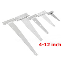 White Iron 4/6/8/10/12 inch Tee Hinge for Wooden Gate T Hinge Shed Door Garden Tool(China)