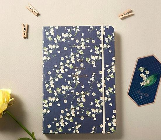Vintage blossom hardcover band agenda 192P floral journal<br><br>Aliexpress