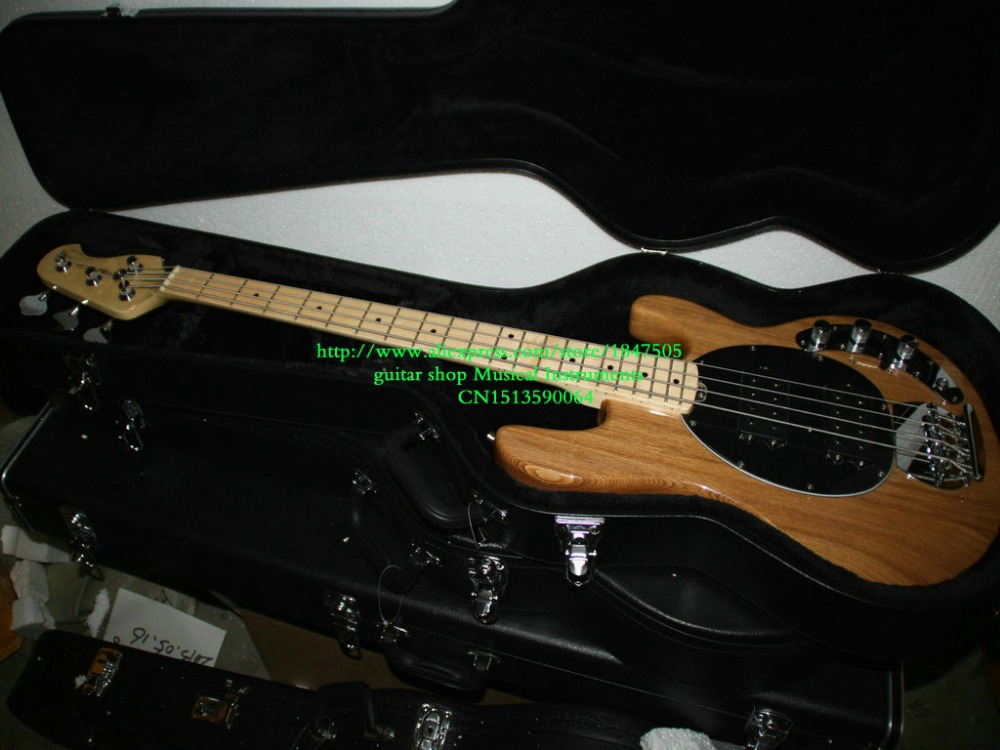 New Arrival 4 Strings Bass guitar with case Very Nice Natural Color Electric Bass Guitars(China (Mainland))