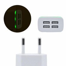 2017 5V/4A LED lamp USB Battery charger for Home Office Mobile phone Travel AC Wall Charging Charger Power Adapter White