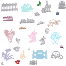 1PC New Christmas Cutting Dies Stencil Scrapbooking Album Paper Card Embossing DIY Craft Decoration Cake/Fruit/Angel
