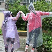 Unisex Portable Light Hood Poncho Camping Plastic Raincoat Disposable Adult Emergency Waterproof Rain coat for Women Men