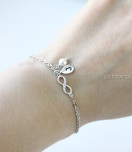 10pcs Famous Tiny Infinity Bracelet Bridesmaid gifts Initial Bracelet Jewelry Bracelet Maid of Honor Gift Flower girl gift