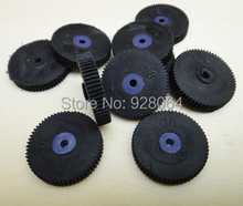 30pcs Small flat rubber wheel / gear wheels/toy accessories/Technology model parts/hot wheel/rc car parts