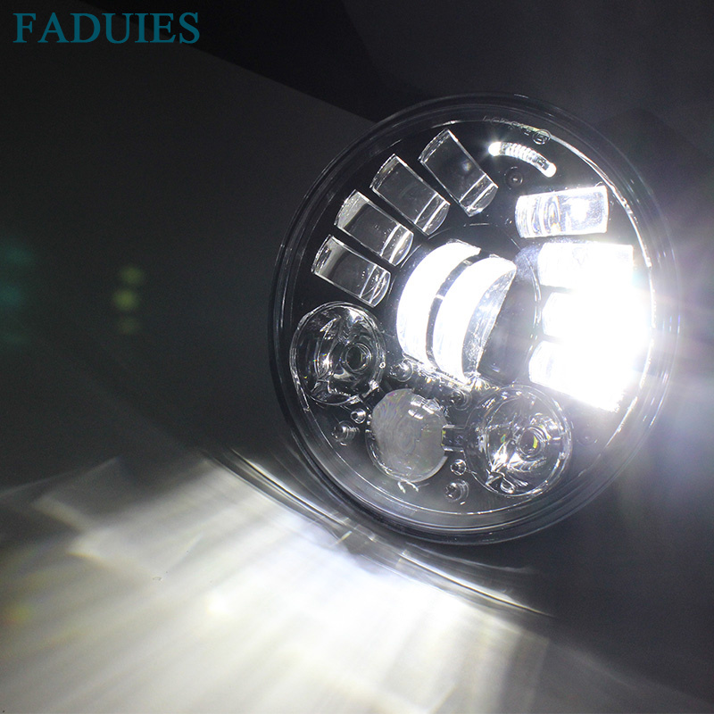 FADUIES 2018 New Motos Accessories 5.75 Adaptive Headlight Motorcycle for Harley 5-34 Motorcycle Black Projector Daymaker (11)