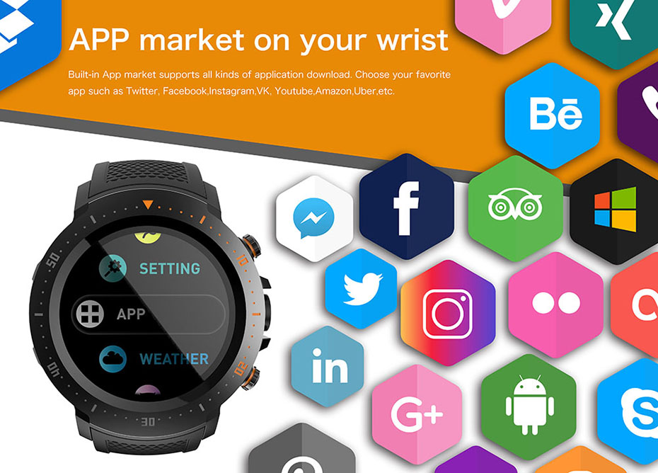 COLMI Flagship 4G Smart watch Android 7.1 OS MTK6739 1GB+16GB 400400 Display 530MAH IP67 waterproof GPS Men Smartwatch 11