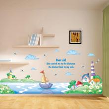 DIY Removable Room Home Decor Cartoon Animal Wall Sticker Giraffe Decal Muurstickers Voor Kinderen Kamers Wall Stickers for Kids
