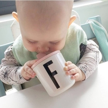 Letters Baby Cup With Cup Lid Bebes Water Drink Cup Copo infantil Kids Boy Girl Melamine Bottles Training Cups baby tazas bardak