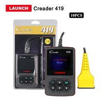 2017 Launch Direct Store 10 Pcs/lots CR419 obd2/eobd Code Reader Scan tool CReader 419 diagnostic free update online DHL free(China)