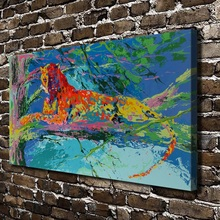 A1801 LeRoy Neiman Abstract Leopard Tree Animals, HD Canvas Print Home decoration Living Room Wall pictures Art painting(China)