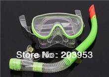 free ship tempered glass diving goggles semi-dry snorkel diving tube set diving snorkeling equipment set swimming goggles