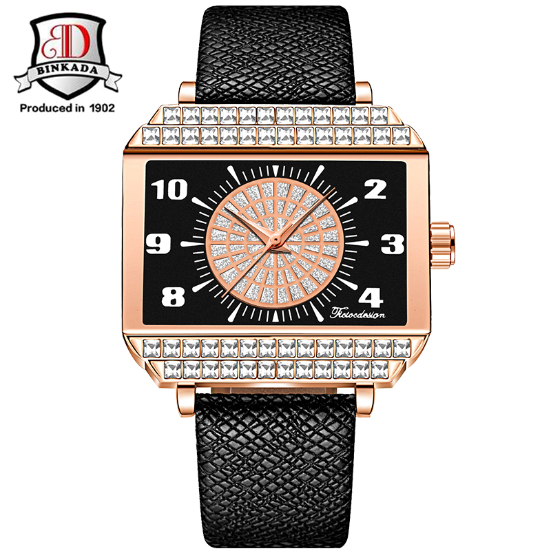 Ladies Fashion Quartz Watch Women Rhinestone Leather Casual Dress Womens Watch Rose Gold Crystal reloje mujer 2017 montre femme<br>