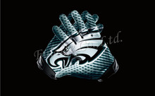 Philadelphia Eagles Glove 3x5 ft flag 100D Polyester flag 90x150cm NFL custom american football gloves flag(China)