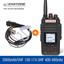 Zastone ZT-A19 10W Talkie Walkie 136-174 400-480MHZ 2800mAh High Power Walkie Talkie Handheld Radio Security Equipment(China)